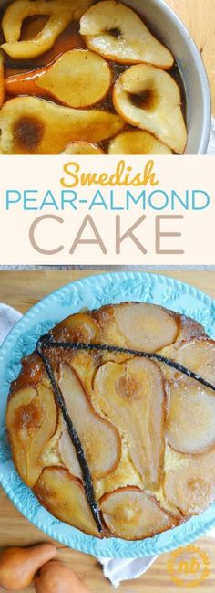 This is an easy pear cake recipe. Swedish Almond Pear cake that is so simple and amazing!