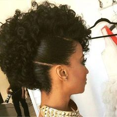 My Hairstyle Always Matches My Emotions Natural Hair Updo, Natural Hair Styles, Natural Updo Hairstyles, Curly Mohawk Hairstyles, Mohawk Updo, Pixie Haircuts, Prom Hairstyles, Protective Style Braids, Protective Styles