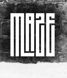 maze font