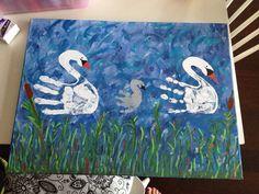 handprint family swan art                                                                                                                                                                                 More