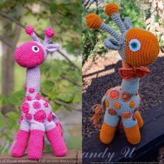 #babyshowergift #handmadetoys #madeinusa #crochet #amigurumi #giraffe #kandyu796 by kandyu796