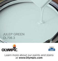 JULEP GREEN OL706.3 is a part of the aquas collection by Olympic® Paint.