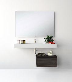UNIBAÑO-Pack311-Baño Mueble de baño con encimera de 120cm y mueble auxiliar. PVP Recomendado 1040€