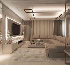 House Interior Design - New ideas Living Room Tv Unit Designs, Living Room Sofa Design, Home Room Design, Living Room Interior, Home Living Room, Home Interior Design, Living Room Decor, House Design, Wall Design