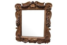 Carved Gilt Wood Mirror