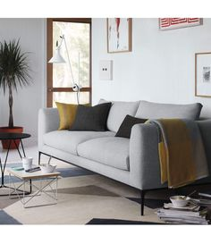 Jonas Sofa - Design Within Reach Types Of Furniture, Space Furniture, Furniture Layout, Living Furniture, Furniture Design, Modern Furniture, Floor Seating, Low Tables, Design Within Reach