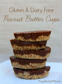 Gluten Free Peanut Butter Cups -- Perfect Christmas treat for someone who is gluten and dairy free intolerant or allergic. They are delicious!