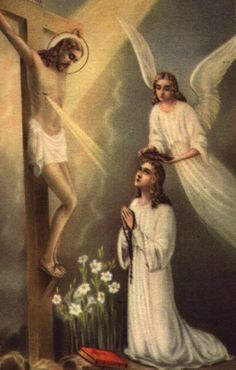 Act of Contrition while showing the Crucifix.  Come sinners; here is Jesus Christ who has stretched forth his arms to embrace you. Can you fear that he will not pardon you, when he gave himself up to death in order to pardon you? Do you perhaps fear that you will not obtain pardon because you find yourselves unable to perform the penance that your sins deserve ?
