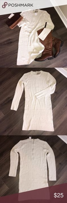 Selling this Cable knit sweater dress. NWT on Poshmark! My username is: jenn_a333. #shopmycloset #poshmark #fashion #shopping #style #forsale #Dresses & Skirts