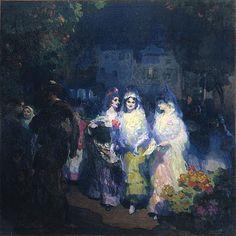 Gustavo Bacarisas y Podesta. Spanish Dance, Moonlight Painting, Spanish Artists, Female Art, Art History, My Arts, Fictional Characters, Bilbao, Google