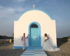 St Stefanos Island wedding Kos, traditional chapel in an island setting with beach bbq reception