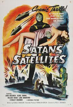Satans Satellites Vintage Movie Poster 13 x 19 by FalstaffTrading