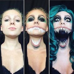 Awesome makeup for Halloween!  Happy Halloween everyone! . ️Via:@insta.beauty.tv @megannicole.makeup . FOLLOW my personal page @miss.utopia for kinetic sand @miss.utopia . . . #makeups #facepaint #spiderman #artsanity #makeupartist #venom #mouth #creative #beautyideaz #death #scaryface #scary #conjuring #paint #makeuplove #makeupartistry #nice #makeupart #bodypaint #artwork #makeupartist #artworld #insane