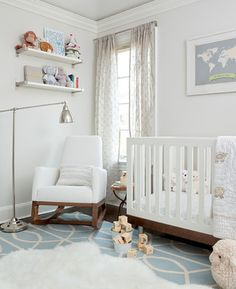 Like how this is not baby-ish...a beautiful room that happens to have a crib
