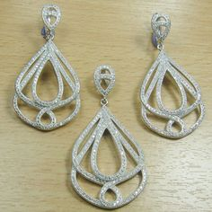 Lovely Micro Setting White CZ 925 Sterling Silver Jewelry Set