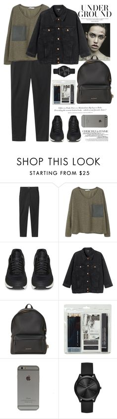 """Без названия #2215"" by catelinota-a ❤ liked on Polyvore featuring H&M, Toast, MANGO, NIKE, Monki, Givenchy, Royal & Langnickel, La Femme and Michael Kors"