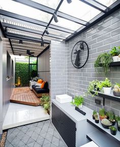 Check out these amazing small backyard and garden design ideas. Dirty Kitchen Design, Outdoor Kitchen Design, Home Decor Kitchen, Dirty Kitchen Ideas, Home Room Design, Small House Design, Home Interior Design, Outdoor Laundry Rooms, House Extensions