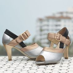 Metallic Peep-Toe Sandal by Monroe and Main from Monroe and Main   WI719302
