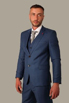 Electric 3 Piece Blue Sienna Suit