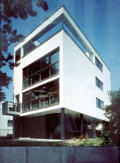 Weissenhofsiedlung, Citrohan House, 1927, Le Corbusier, Stuttgart, Germany.
