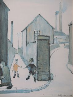L.S Lowry 1959 print est £100-£200 to be auctioned 15/6/16