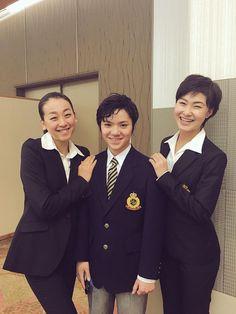 With Shoma Uno and Kanako Murakami.