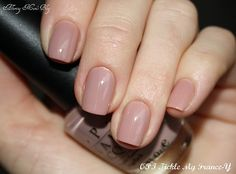 """might be kind of """"blah"""" at first but when you want an understated but nice looking nail with a good quality polish this might be a good choice.  OPI Tickle my France-y"""