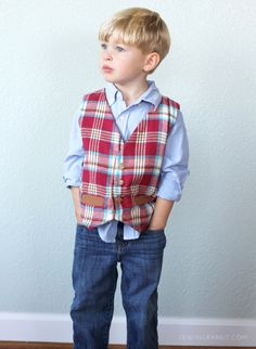 Sew up a little boys vest this holiday season with this free vest pattern.