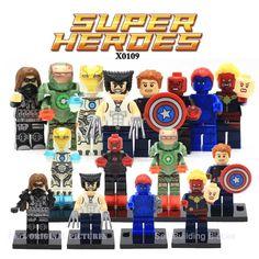 Marvel Super Heroes Action Figures Building Block Compatible With Legoes Civil War X-Men Hulk Deadpool Iron Man Batman Spiderman