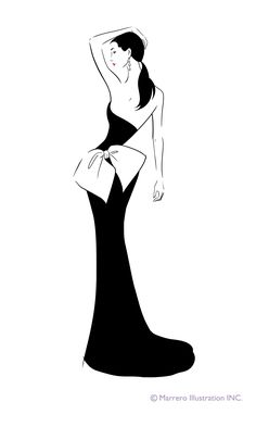 #FashionIllustration #silhouette by Carlos Marrero