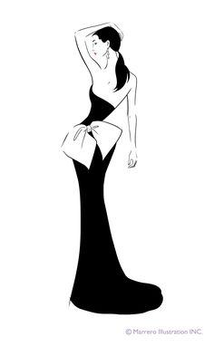 #FashionIllustration #silhouette by Carlos Marrero