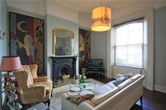 An inspirational image from Farrow & Ball. Farrow And Ball Living Room, Farrow And Ball Paint, Farrow Ball, Interior Work, Interior Walls, Interior And Exterior, Blue Grey Rooms, Blue Walls, Paint Color Palettes