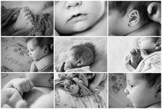 Newborn Photography Session.  baby parts.  black and white photography.  Chicago Baby Photographer. Christina Bailitz Photography