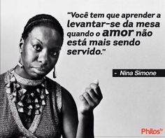 Nina Simone, Frases Girl Power, Wise Quotes, Inspirational Quotes, Afro, Horror Photography, Black Power, Timeline Photos, Inner Peace