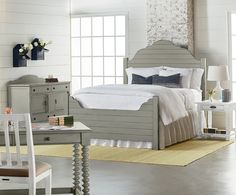 Traditional Bedroom with Shiplap Bed - Magnolia Home by Joanna Gaines available at Potentially Chic Roanoke, VA www.potentiallychic.com