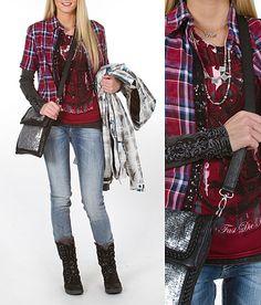'Queen of Plaid'  #buckle #fashion  www.buckle.com ~ SUPER FUN clothes site!
