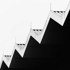 The contrast of black and white in architecture.