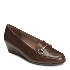 A2 by Aerosoles Women's Love Spell Medium/Wide Wedge Loafers (Brown)