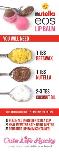 DIY 3-Ingredient Nutella Lip Balm!