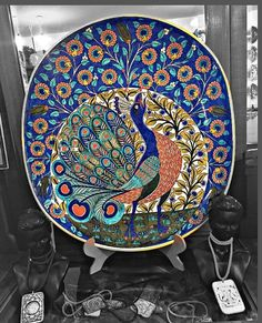 Special design signed by Sıtkı II Umeda # Is nidaolç What's Decoration? Decoration could be the art … Psychological Effects Of Color, Peacock Pictures, Most Luxurious Hotels, Target Home Decor, Blue Pottery, Ceramic Houses, Curtain Patterns, Indian Paintings, Tile Art