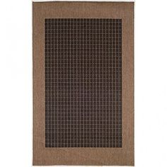 Couristan 10052000 Recife Checkered Field BlackCocoa Rug 2Feet by 3Feet 7Inch * Be sure to check out this awesome product.