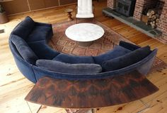Milo Baughman Curved Sofa | From a unique collection of antique and modern sofas at http://www.1stdibs.com/furniture/seating/sofas/