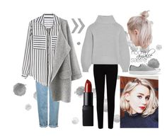 """""""Noora Amalie Sætre"""" by driftingwonder on Polyvore featuring EAST, Topshop, Iris & Ink, NARS Cosmetics, Converse, inspiration, character, noora and skam"""
