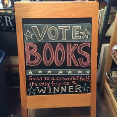 Bookstore chalkboard Library Signs, Library Ideas, Chalkboard Ideas, Chalkboard Signs, Library Displays, Window Displays, I Love Books, Books To Read, Teacher Librarian