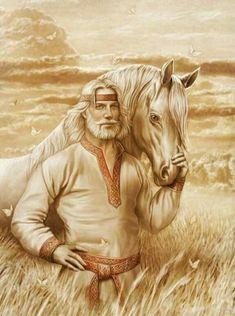 Russian Folk, Russian Art, Wicca, Pagan, Vikings, Eslava, Ukrainian Art, Asatru, Cool Paintings