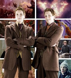 One - Shots Harry Potter - Fred vs George - Wattpad Harry Potter Facts, Harry Potter Books, Harry Potter Love, Harry Potter Fandom, Harry Potter Characters, Harry Potter World, Oliver Phelps, Phelps Twins, Weasley Twins