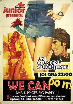 We Can Do It! | PeLipscani.RO | Ghid dedicat Centrului Vechi | Petreceri in Bucuresti | Sambata seara | Centrul Istoric Film Archive, Cinema Film, We Can Do It, London England, Album, Movie Posters, High School Graduation, Film Poster, Popcorn Posters