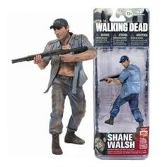 Mcfarland THE WALKING DEAD - DEALER EXCLUSIVE ACTION FIGURE - SHANE WALSH With Baseball Cap Scarce Not In Stores Hobby dealer Exclusive
