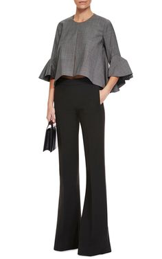 Neu Deconstructed Bell Sleeve Top by ELLERY Now Available on Moda Operandi