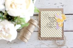 by Stephanie Gold for Papertrey ink garden of faith seasonal borders spring Scrapbook Supplies, Craft Supplies, Clear Stamps, I Card, Gold Designs, Card Stock, Card Making, Paper Crafts, Place Card Holders